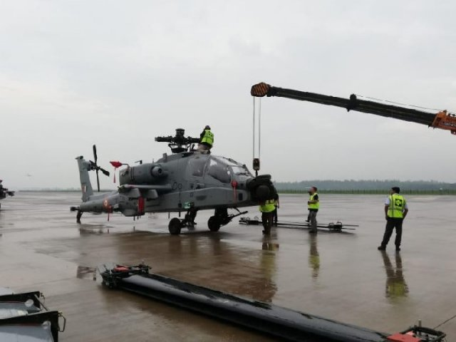 Four Apache Combat Helicopters handed to IAF