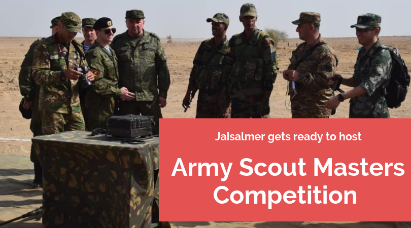 Jaisalmer gets ready to host Army Scout Masters Competition