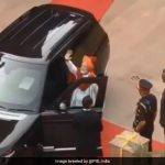While entering the car, this is what PM Modi does first..